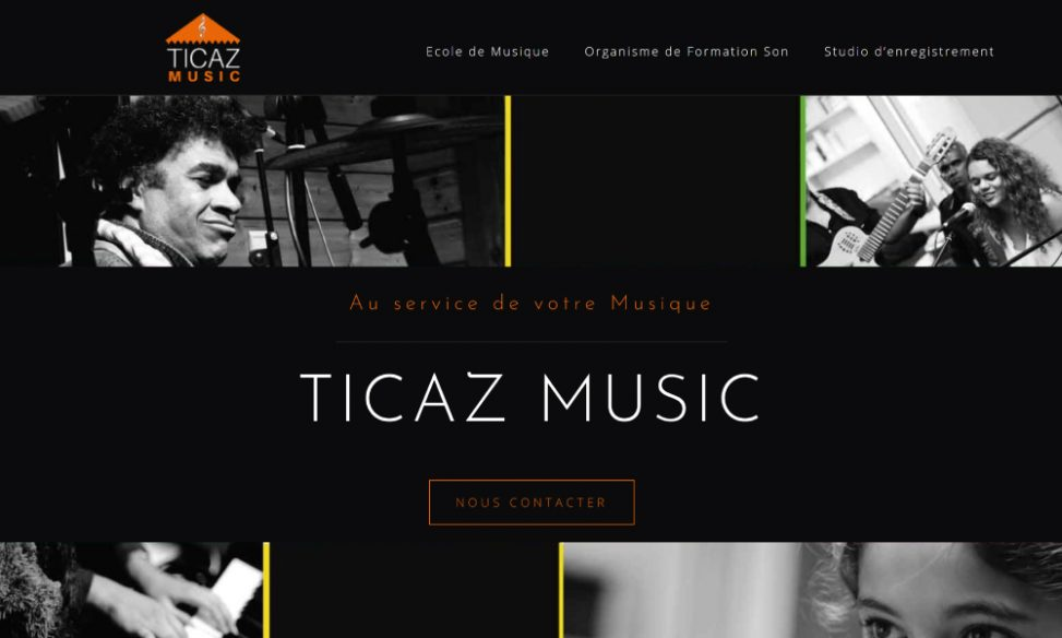 Capture site web ticazmusic.com
