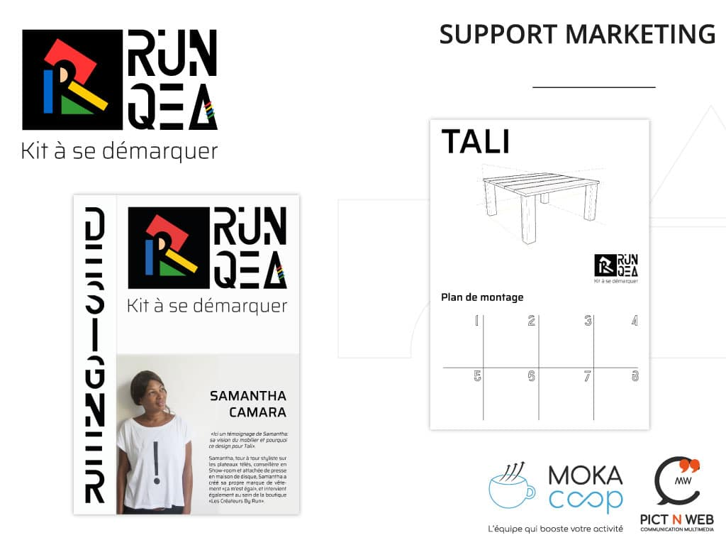 RUNQEA: Affiches packaging - Chevalets