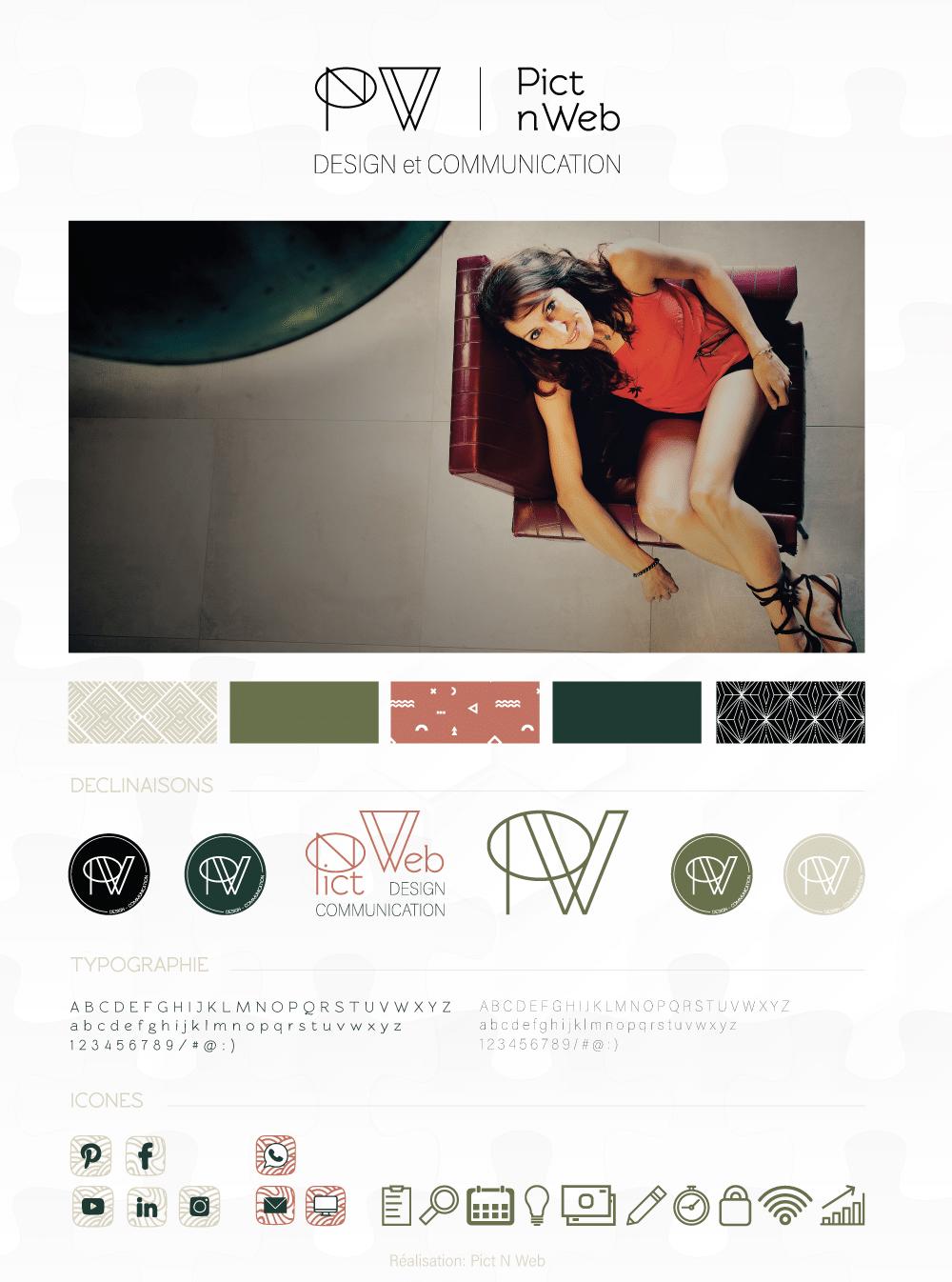 Brand Board: La nouvelle identité visuelle de Pict N Web
