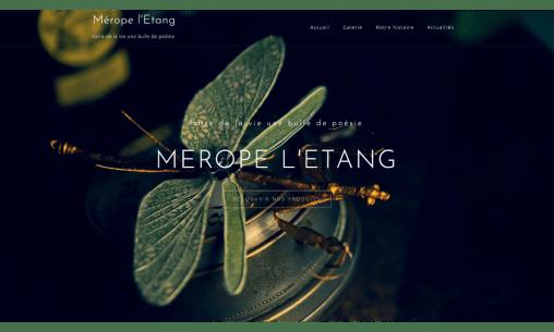 Le site internet de Mérope l'Etang, réalisé par Pict N web